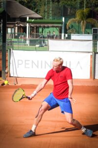 SotoTennis player Charlie Penman plays a match at The Progress Tour